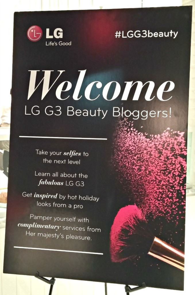 LG G3 Beauty Campaign - Welcome Beauty Bloggers