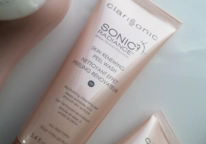 Clarisonic Sonic Radiance Brightening Solution Skin Renewing Peel Wash PM // Toronto Beauty Reviews