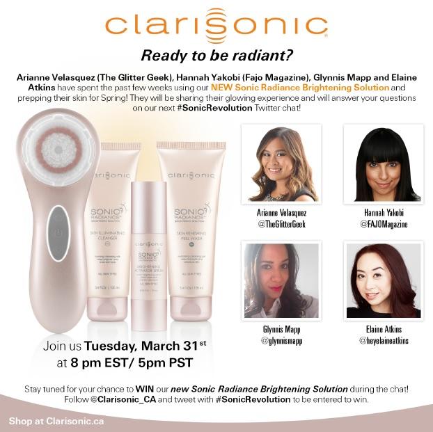 Clarisonic Sonic Radiance Twitter Chat // Toronto Beauty Reviews #SonicRevolution