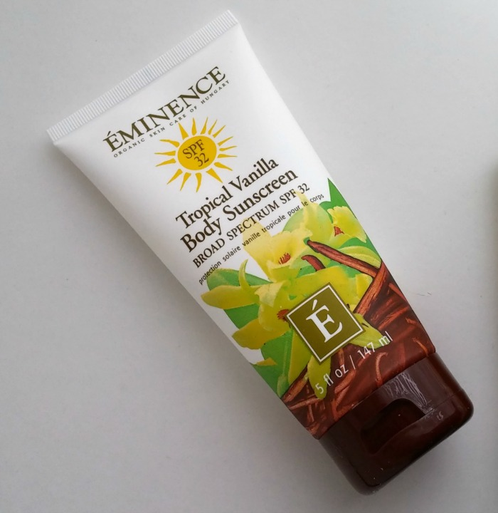 Eminence Organics Tropical Vanilla Sunscreen // Toronto Beauty Reviews