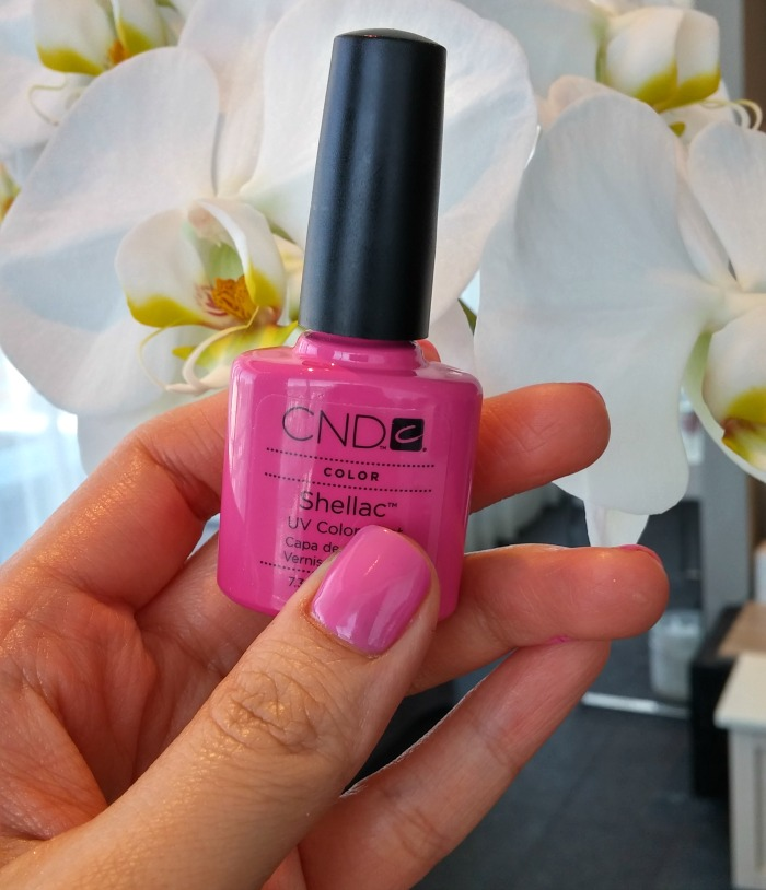CND Garden Muse Collection Shellac Hot Pop Pink // Toronto Beauty Reviews