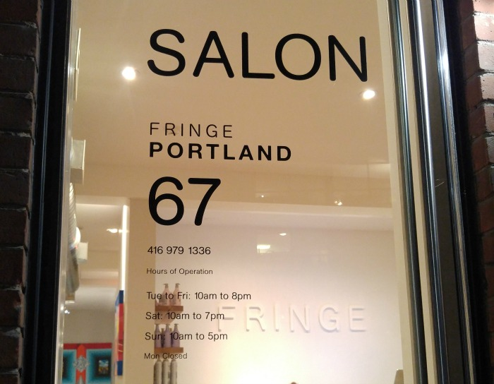 Fringe Portland, Toronto, King West Salon, Toronto Hair Salon, best hair salon Toronto