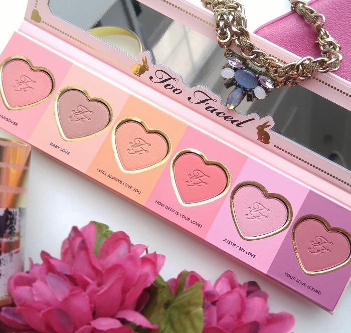 Too Faced Love Flush Blush Wardrobe, blushes, palette, blush, limited edition, long lasting blush