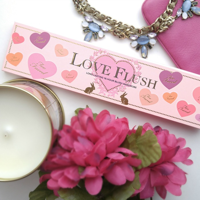 Too Faced Love Flush Blush Wardrobe, Too Faced blush palette, heart palette, valentines day, blushes, limited edition, long lasting blush