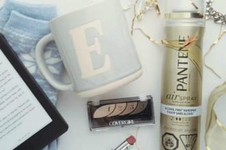 beauty products, hair spray, holiday gear, lipstick, eye shadow, covergirl, pantene, kobo, cozy, beauty box