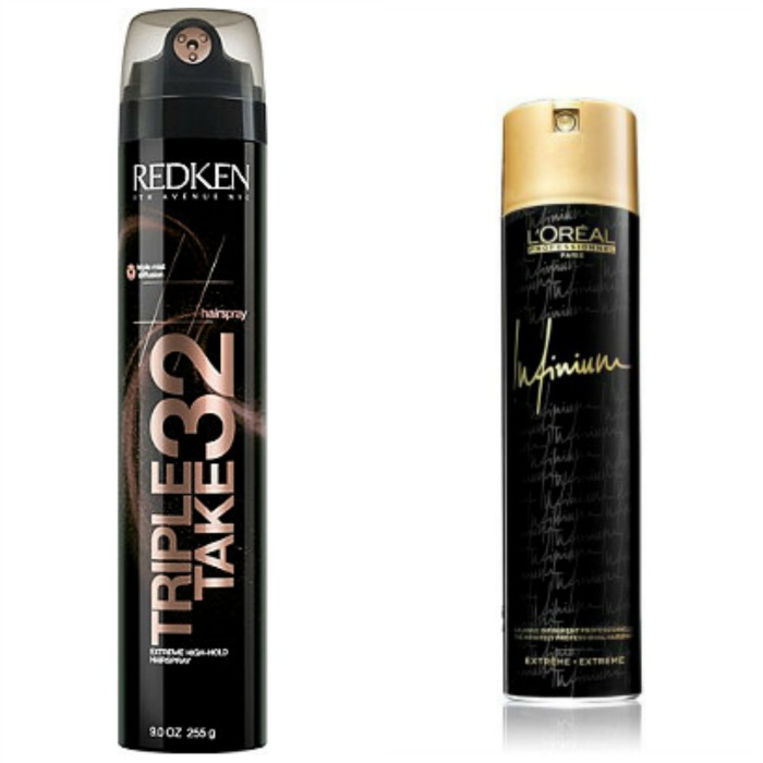 Redken Triple Take 32 vs L'Oreal Infinium Hairsprays