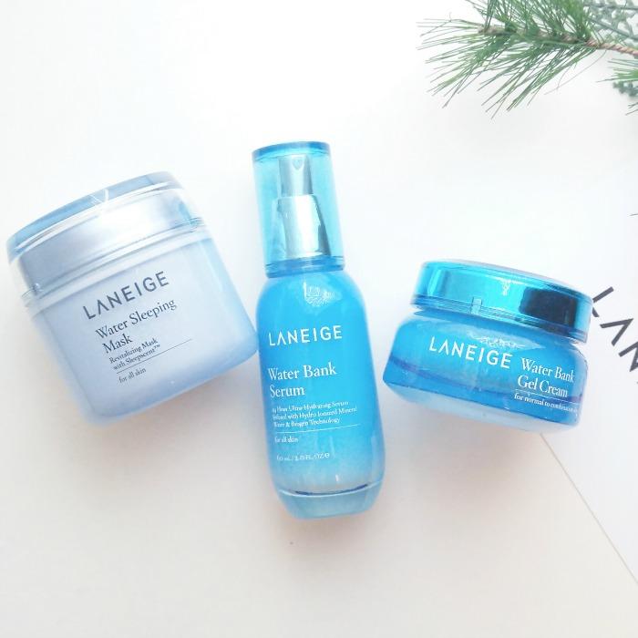 LANEIGE skin care routine, sleeping mask, serum, gel cream, Korean skin care