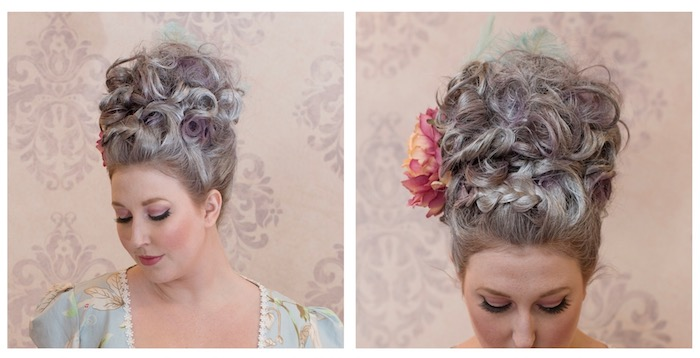 Marie Antoinette Theme Party Hair Front & Side View | Toronto Beauty Reviews