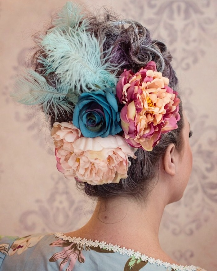 Marie Antoinette Theme Party Hair Updo | Toronto Beauty Reviews