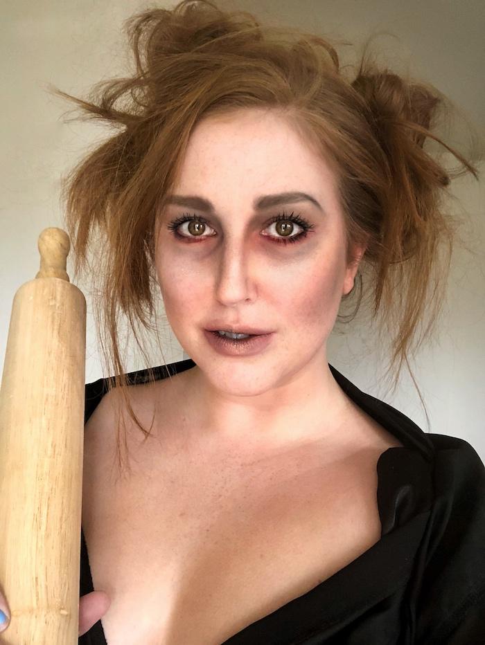 Easy-Fall-Makeup-Looks-Halloween-Makeup-Looks-Mrs-Lovett | Toronto Beauty Reviews